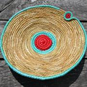 Eddy - Coiled gladioli leaves and beachcombed rope 41 x 9cm